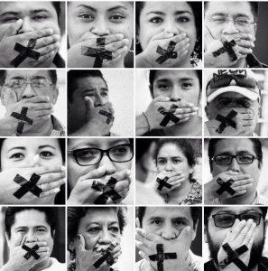Protesta de periodistas de Tuxtepec, Oaxaca