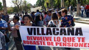 Protestan contra Villacaña Jiménez