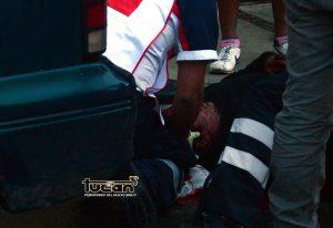 Motociclista herido