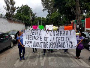 Protestas en contra de Montserrat de los Ángeles Aragón Heinze