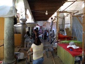 Pasillos de venta de los artesanos