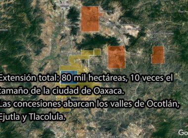 Extensión de minera en Ocotlán, Oaxaca