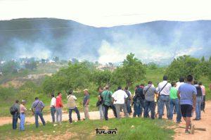 Presencia de la AEI durante el desalojo del pasado 4 de junio en la Vicente Guerrero, Zaachila.Presencia de la AEI durante el desalojo del pasado 4 de junio en la Vicente Guerrero, Zaachila.