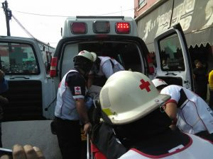 Traslado del Jefe de Mercados a la Cruz Roja