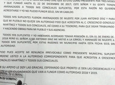 Alertamiento de autoridades a SEGEGO