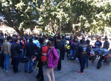 Motociclistas de Oaxaca en protesta