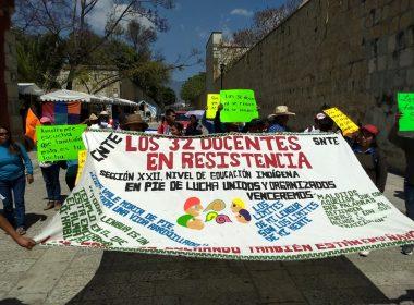 Protesta de maestros de Amoltepec