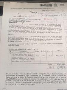 Informe sobre la adquisición de maletas en el IEEPO