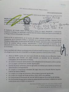 Peticiones atendidas al Magusterio