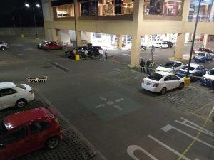 AEI en el estacionamiento de la Macroplaza en diligencias