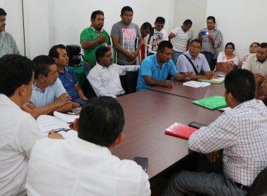 Familiares de las víctimas de Ecatepec, Oaxaca en encuentro con el Fiscal de Oaxaca el pasado 25 de Julio