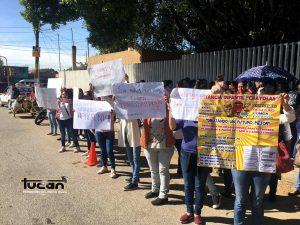 Protesta en SEDESOL