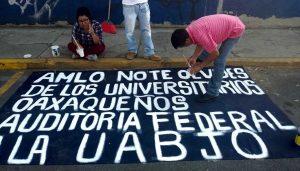 Huelga en la UABJO