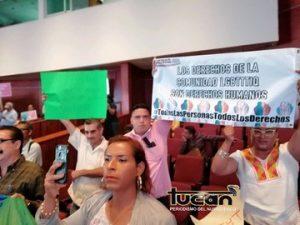 Comunidad lesbico gay en el Congreso de Oaxaca
