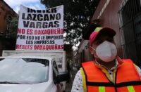 Protesta en la Casa Oficial de Oaxaca